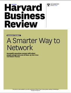 A Smarter Way to Network: The Personal Networks of Successful Leaders