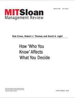 How 'Who You Know' Affects What You Decide