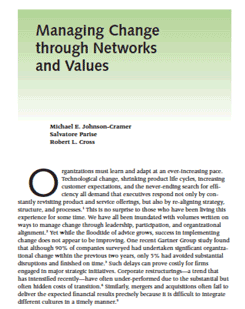 Managing Change Through Networks and Values