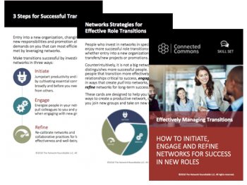 Accelerate role transitions card deck