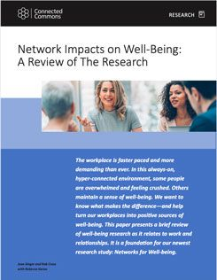 Network Impacts on Well-Being: A Review Of The Research